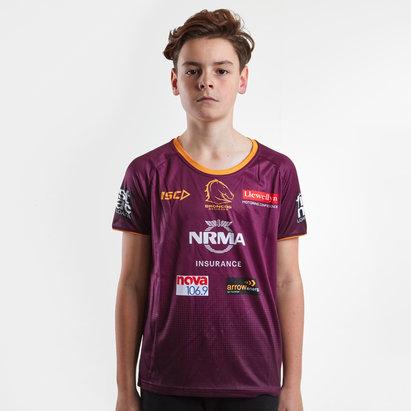 ISC Brisbane Broncos NRL 2019 - Tshirt de Rugby Entraînment Enfants
