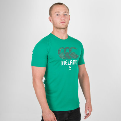 Canterbury Irlande IRFU - Tshirt de Rugby Graphic Poly