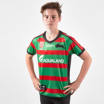 ISC Maillot de Rugby domicile pour enfants plus jeunes, South Sydney Rabbitohs NRL 2019