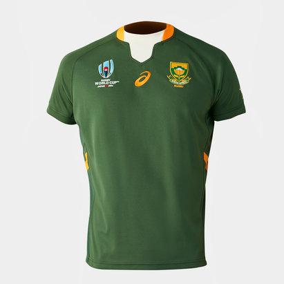 Asics Maillot réplique domicile pour enfants, Springboks d'Afrique du Sud, coupe du monde 2019
