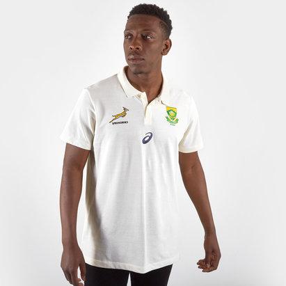 Asics Polo de Rugby Media pour joueurs, Springboks d'Afrique du Sud, Coupe du monde 2019