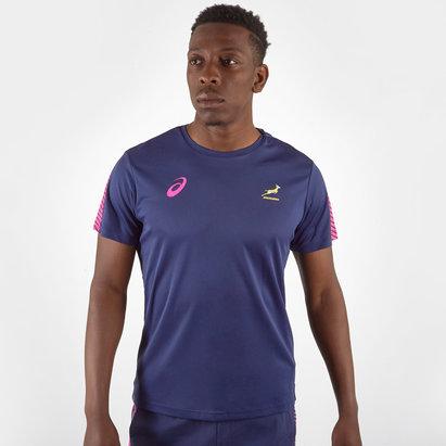 Asics T-shirt d'entraînement de rugby de joueurs Springboks 2019/20 d'Afrique du Sud