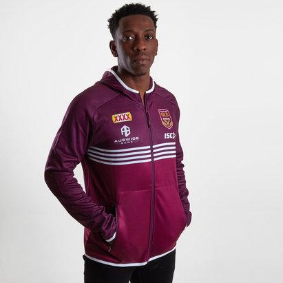 ISC Sweatshirt de Rugby avec capuche et zip, Joueurs Queensland Maroons State of Origine 2019