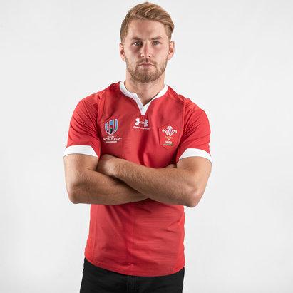 Under Armour Maillot de Rugby Test pour hommes, Pays de Galles WRU, Coupe du Monde WRC 2019
