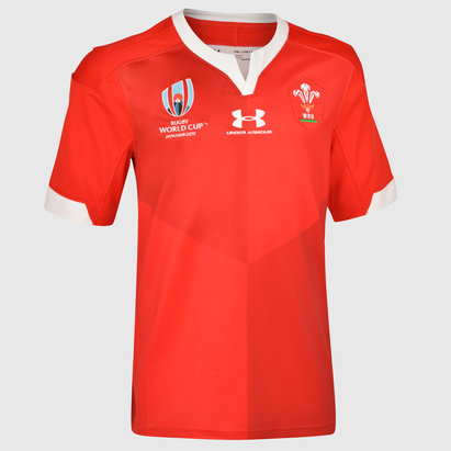 Under Armour Maillot de Rugby pour enfants, Pays de Galles WRU, Coupe du Monde WRC 2019