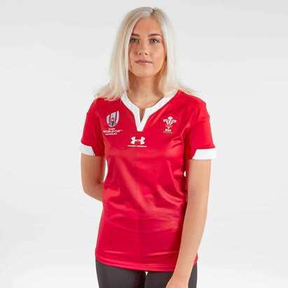 Under Armour Maillot de Rugby pour femme, Pays de Galles WRU, Coupe du Monde WRC 2019