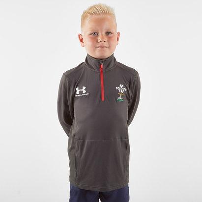 Under Armour Haut d'entraînement de Rugby 1/4 zip pour enfants, Pays de Galles WRU 2019/2020