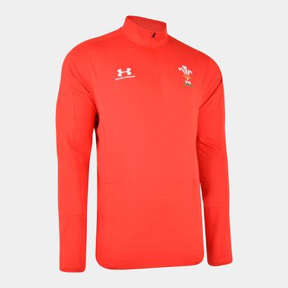 Under Armour Haut d'entraînement pour Joueurs, 1/4 zippé, Pays de Galles WRU 2019/2020