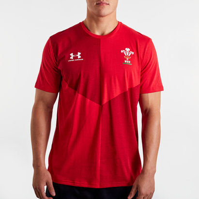 Under Armour Wales WRU 2019/20 Graphic Rugby T-Shirt