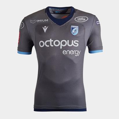 Macron Cardiff Blues 2019/20 Kids Alternate S/S Replica Shirt