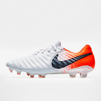 Nike Tiempo Legend VII Elite, Crampons blancs de Football, Terrain sec