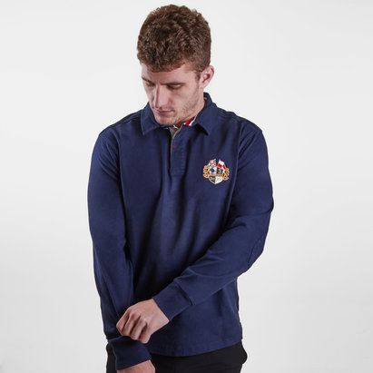 Raging Bull Crest Embroidered, Polo de Rugby classique manches longues