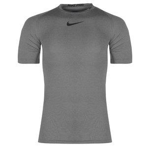 Nike Pro Cool, T-shirt de compression gris manches courtes