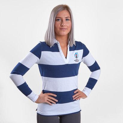 Coupe du monde de Rugby 2019 RWC, Sweatshirt à rayure pour femmes, manches longues