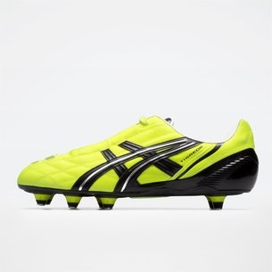 Asics Lethal Tigreor ST, Crampons de Rugby jaune, Terrain mou
