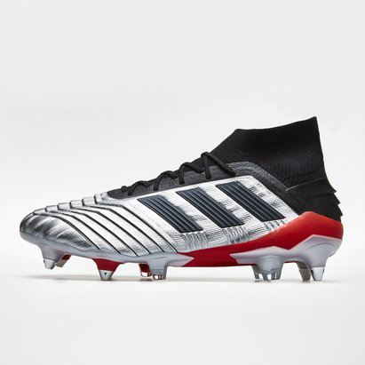 adidas Predator 19.1, Crampons de Football , Terrain mou