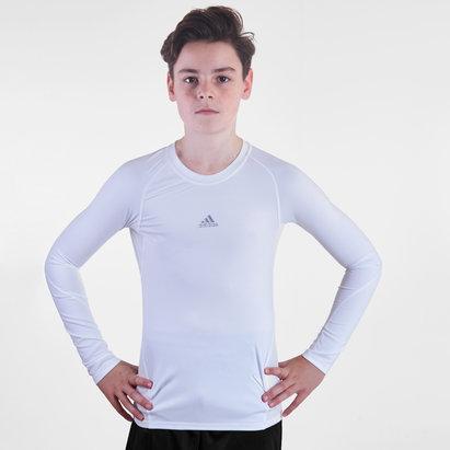 adidas Alphaskin, T-shirt de compression pour enfants, manches longues