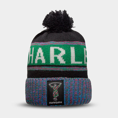 Harlequins Fleece Bobble Hat