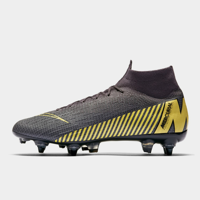 Nike Mercurial Superfly VI Elite, Crampons de Football Pro, Terrain mou