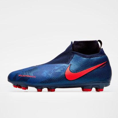 Nike Phantom Vision Elite, Crampons de Football pour enfants défenseurs, Terrain sec/Multi-surface
