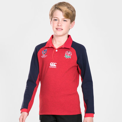 Canterbury Polo Classic manches longues de Rugby pour adolescents, Angleterre coupe du monde RWC 2019