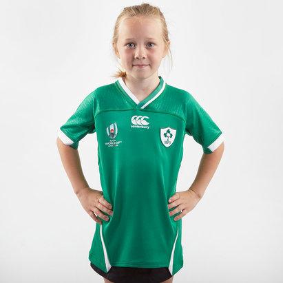 Canterbury Maillot de Rugby pour enfants Irlande domicile IRFU coupe du monde RWC 2019