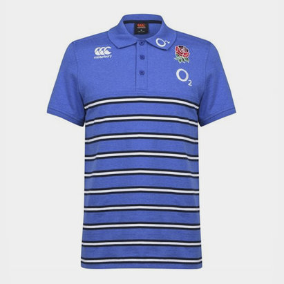 Canterbury Polo de Rugby à rayures en Cotton, Equipe d' Angleterre 2019/2020