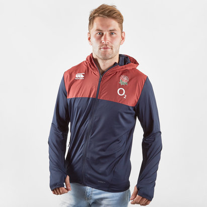 Canterbury Sweatshirt à capuche avec zip intégrale pour hommes, Angleterre 2019/2020