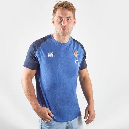 Canterbury T-shirt d'entrainement en coton pour hommes, Angleterre 2019/2020