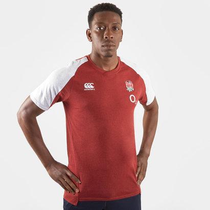 Canterbury T-shirt d'entrainement en coton pour hommes, Equipe d'Angleterre 2019/2020