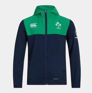Canterbury Sweatshirt à capuche avec zip intégral, pour enfants, Irlande IRFU 2019/2020