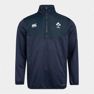 Canterbury Haut d'entrainement de Rugby avec 1/4 de zip pour enfants, Irlande IRFU 2019/2020