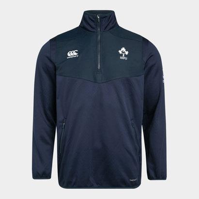 Canterbury Haut d'entrainement de Rugby avec 1/4 de zip pour enfants plus jeunes, Irlande IRFU 2019/2020