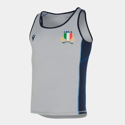 Macron Débardeur d'entraînement Gym pour jour, Équipe de Rugby Italie 2019/2020
