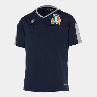Macron T-shirt d'entraînement de Rugby pour enfants, Italie 2019/2020