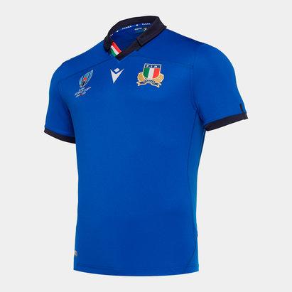 Macron Maillot de Rugby Réplique pour enfants Italie domicile, Coupe du Monde 2019
