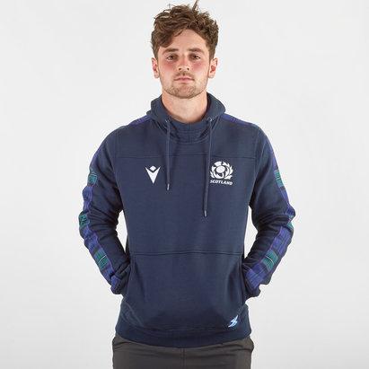 Macron Sweatshirt à capuche de voyage pour joueurs de Rugby, Écosse 2019/2020