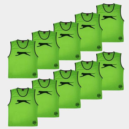 Slazenger Dossards d'entrainement verts pour enfants, lot de 10