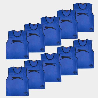 Slazenger Dossards d'entrainement bleu royal pour enfants, lot de 10