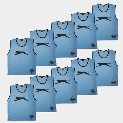 Slazenger Dossards d'entrainement bleu ciel pour enfants, lot de 10