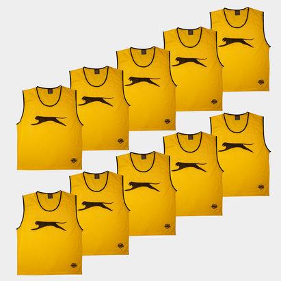 Slazenger Dossards d'entrainement jaunes pour enfants, lot de 10