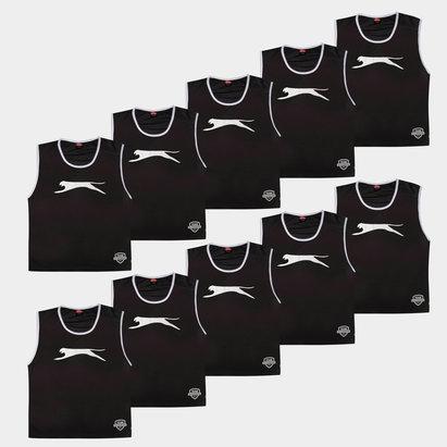 Slazenger Dossards d'entrainement noirs pour adultes, lot de 10