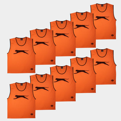 Slazenger Dossards d'entrainement Orange pour adultes, lot de 10