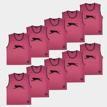 Slazenger Dossards d'entrainement rose pour adultes, lot de 10
