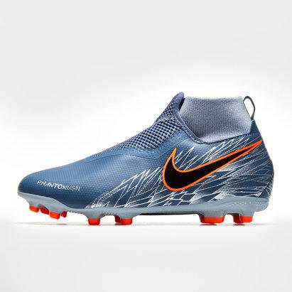Nike Phantom Vision Academy, Crampons de Football pour enfants, largeur de pied D, terrain sec/Multi-surfaces
