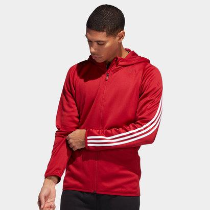 adidas Sweat 3 Bandes à capuche avec zip