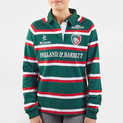 Kukri Maillot de Rugby Manches longues , Leicester Tigers domicile 2019/2020 pour femmes