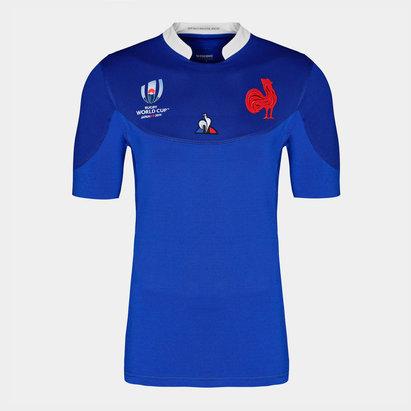 Le Coq Sportif Maillot de rugby pour hommes, France coupe du monde 2019 domicile