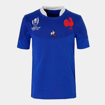 Le Coq Sportif Maillot de rugby pour enfants, France coupe du monde 2019 domicile