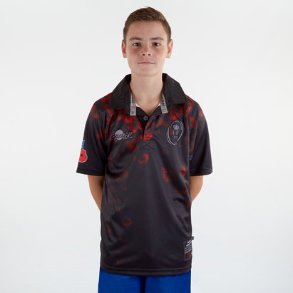 Samurai Army Rugby Union Remembrance, Maillot de Rugby Poppy Day pour enfants